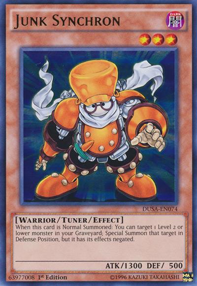 Junk Synchron YGO Card