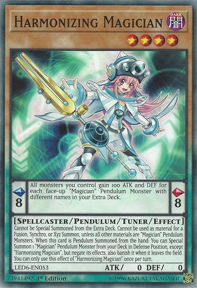 Harmonizing Magician YGO Card