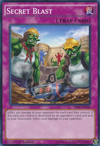Secret Blast YGO Card