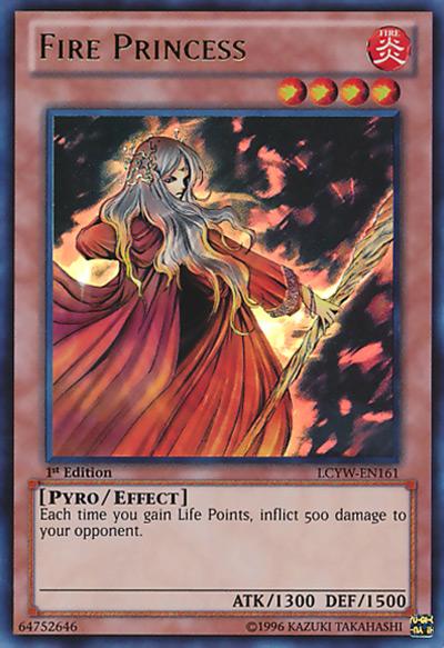 Fire Princess YGO Card