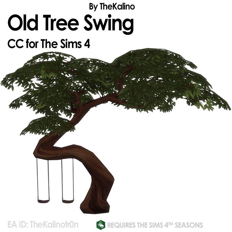 Old Tree Swing / Sims 4 CC