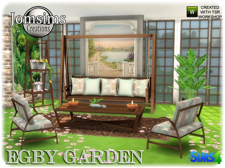 Egby Garden Set / Sims 4 CC