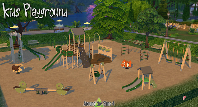 Kids Playground Stuff Pack / Sims 4 CC