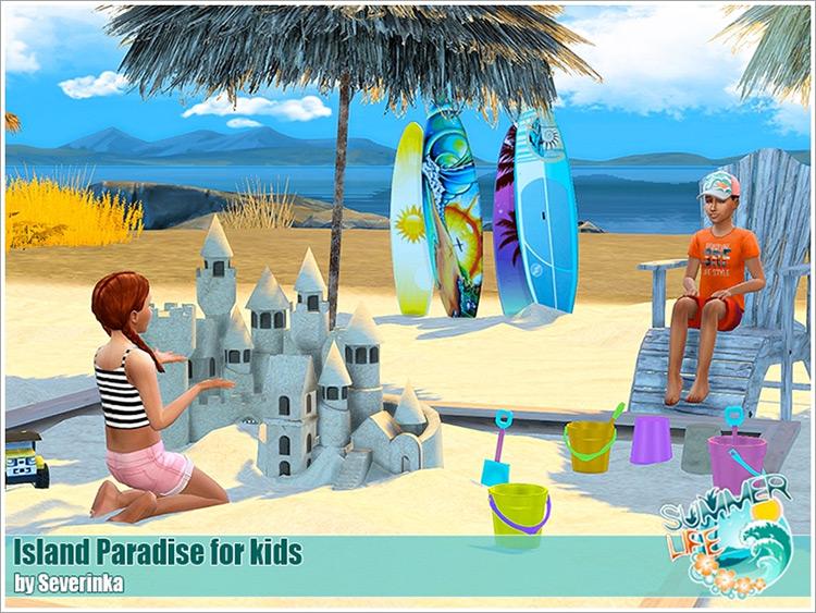 Island Paradise for Kids / Sims 4 CC