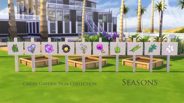 Caigel Garden Sign Collection / TS4 CC