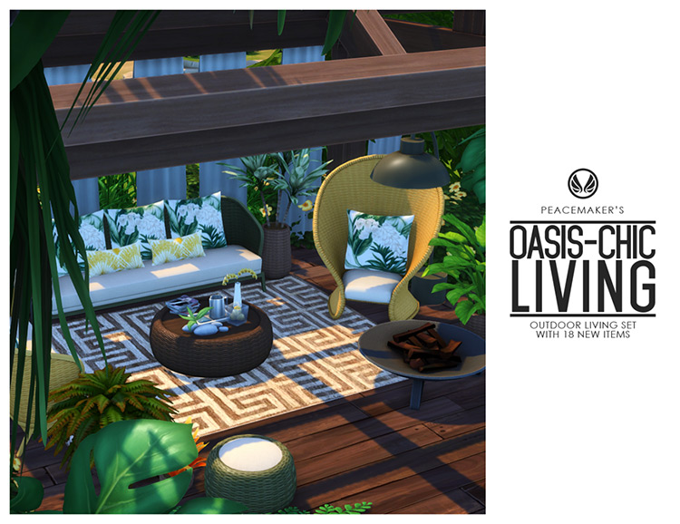 Outdoor Living Set for The Sims 4
