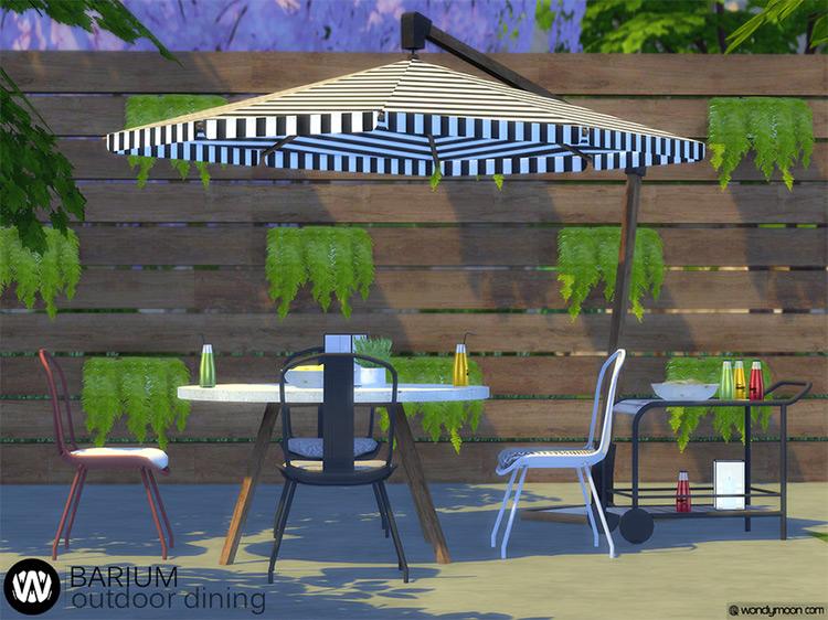Barium Outdoor Dining Set / Sims 4 CC