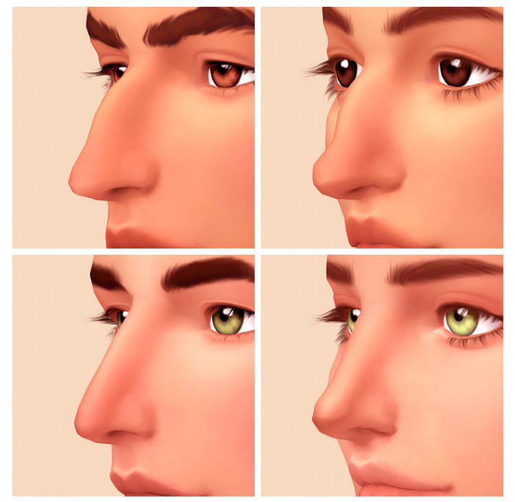 Roman and Greek Nose Presets for Sims 4