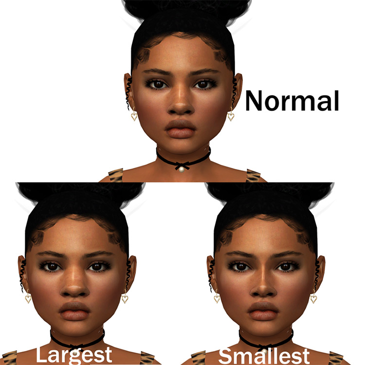 Nose Width Slider for All Ages TS4 CC