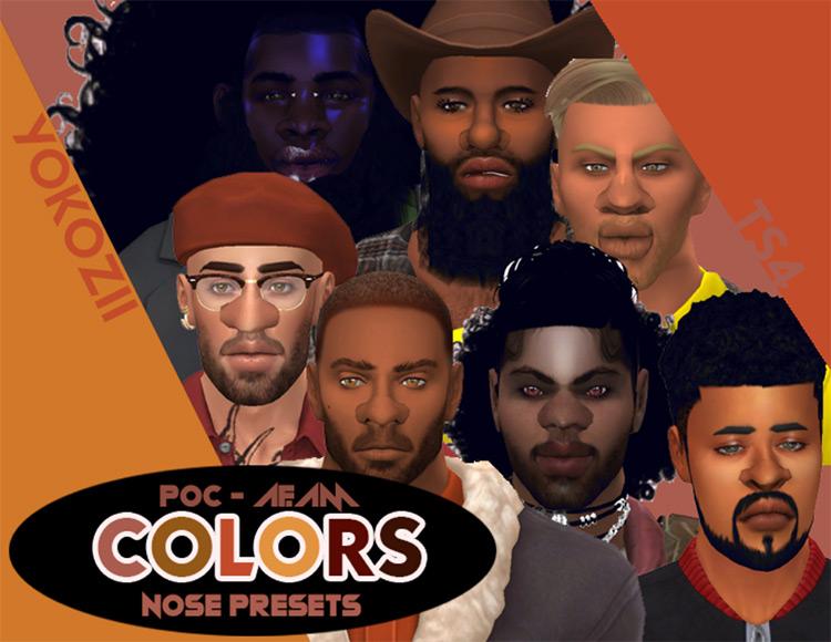Colors: Nose Presets Sims 4 CC