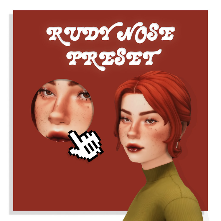 Rudy Nose Preset for Sims 4