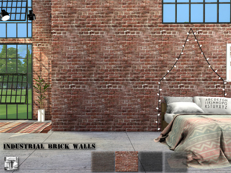 Industrial Brick Walls by Torque for Sims 4
