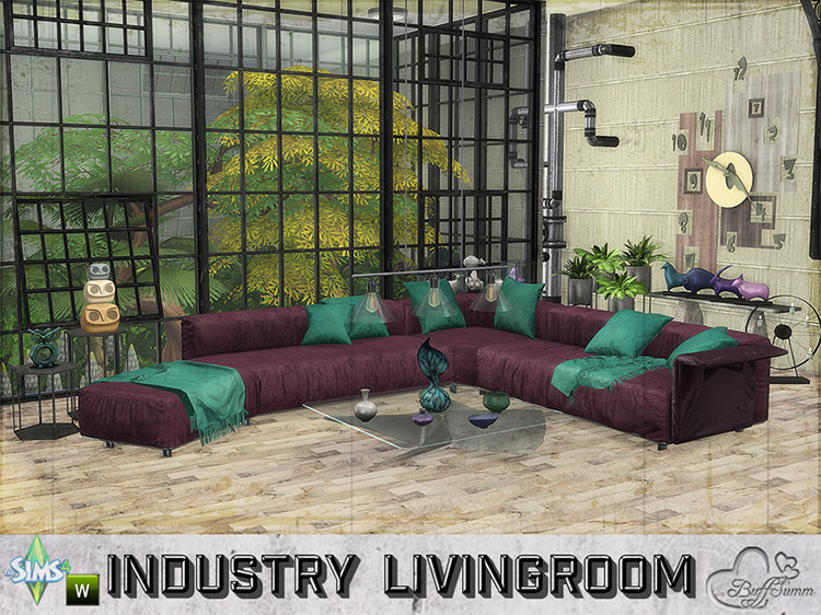 Livingroom Industry by BuffSumm for Sims 4