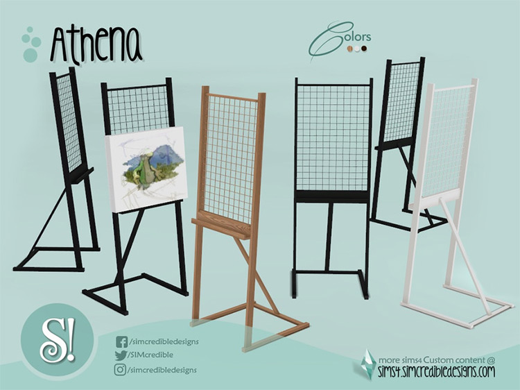 Athena by SIMcredible! Sims 4 CC