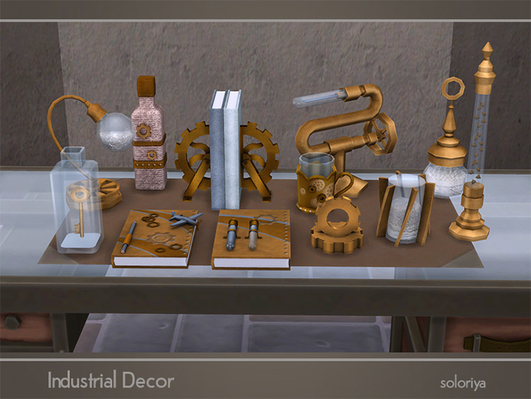 Industrial Décor by soloriya for Sims 4
