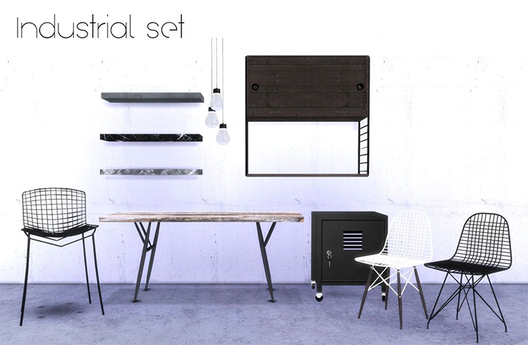 Industrial Set by hvikis Sims 4 CC