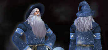 Male wizard with a beard / Sims 4 CC costume