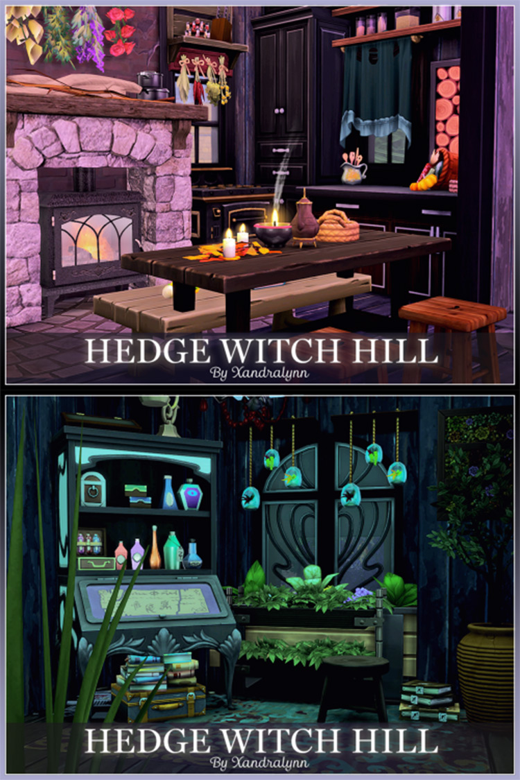 Hedge Witch Hill Home Lot for TS4