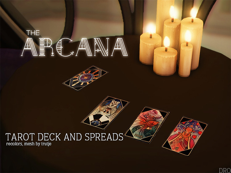 Arcana Tarot Deck/Spreads CC for TS4