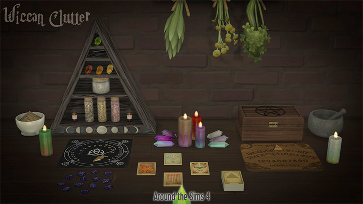 Wiccan Clutter Pack for The Sims 4
