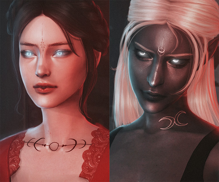 Witch's Mark Tattoo Set / Sims 4 CC