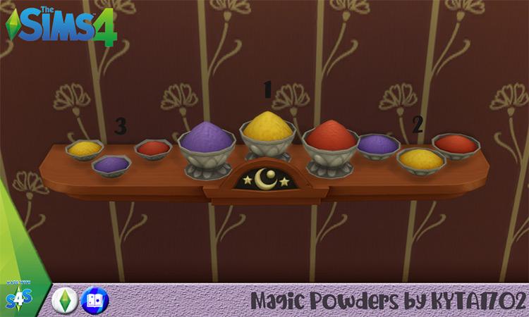 Magic Powders Set / Sims 4 CC