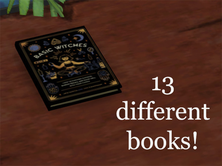 Witchy Sorcerer Books CC Set for The Sims 4