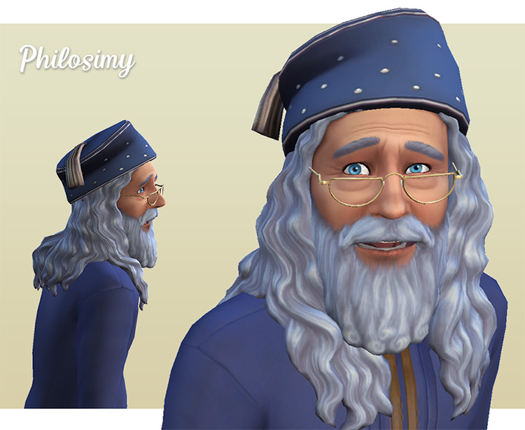 Wizard Hat & Glasses CC for The Sims 4