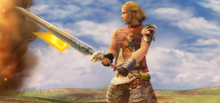 Basch holding two-handed greatsword in FFXII The Zodiac Age