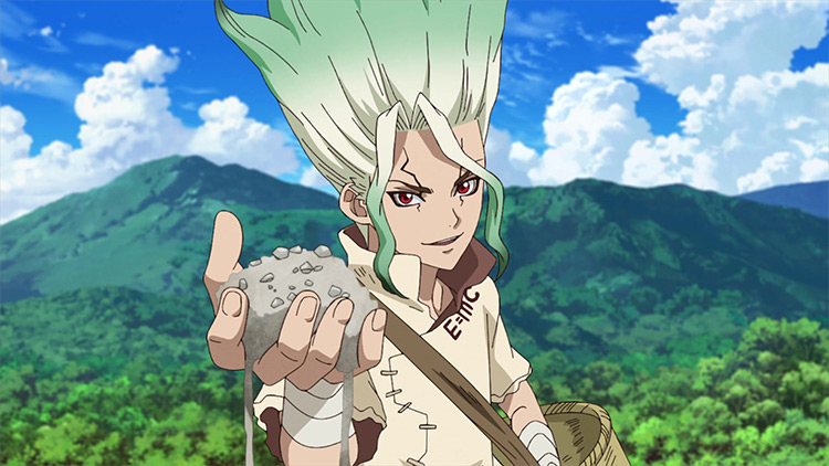 Senku Ishigami Dr. Stone anime screenshot