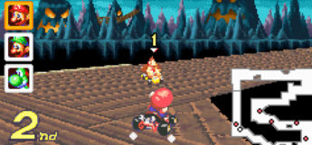 Mario Kart Super Circuit on Gameboy Advance