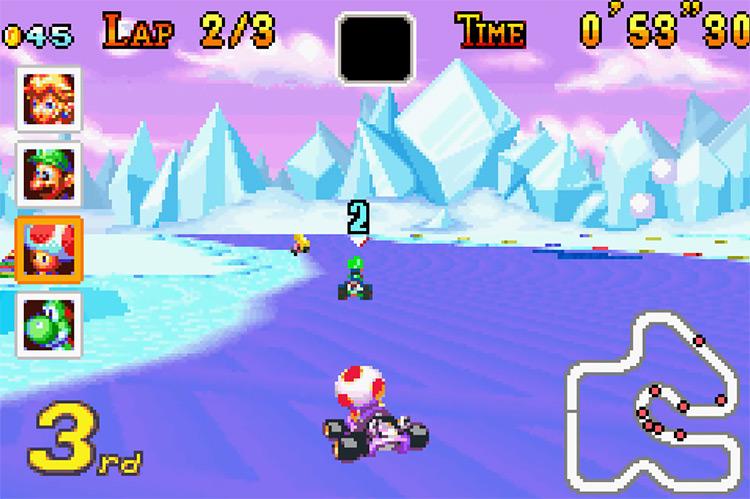 Mario Kart: Super Circuit GBA gameplay