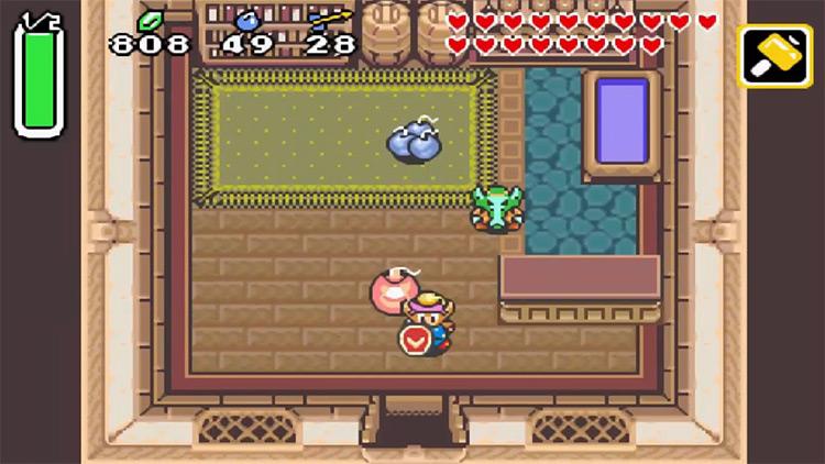 Legend of Zelda: A Link to the Past & Four Swords GBA screenshot