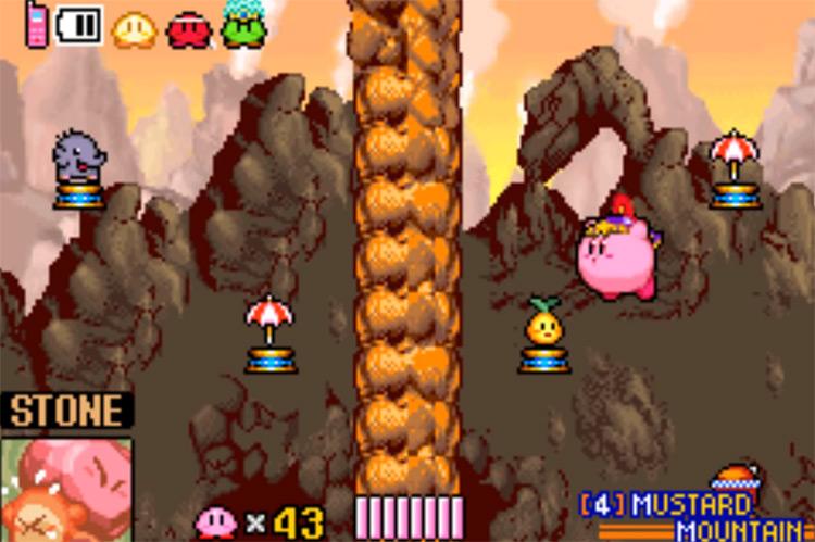 Kirby & The Amazing Mirror GBA gameplay