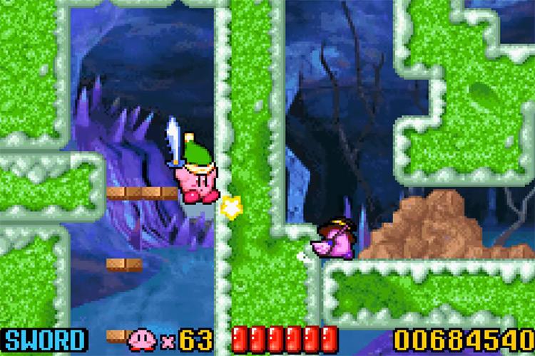 Kirby: Nightmare in Dreamland GBA screenshot
