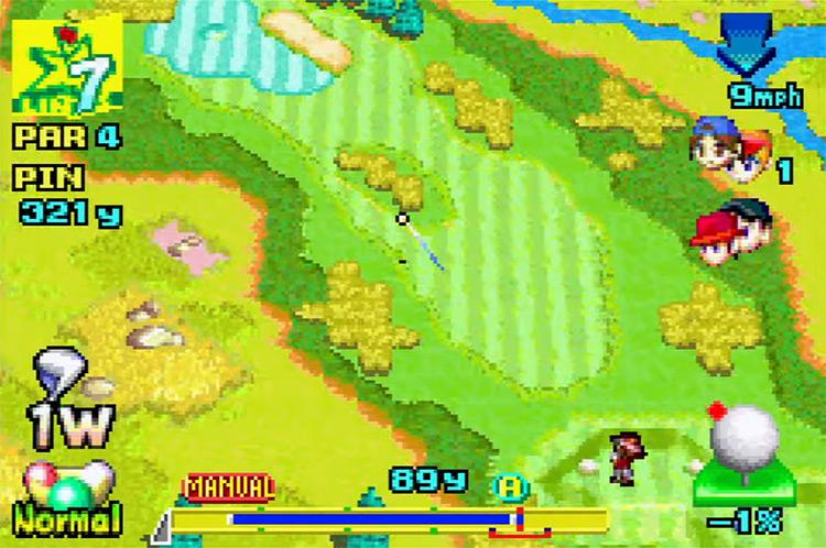 Mario Golf: Advance Tour GBA gameplay