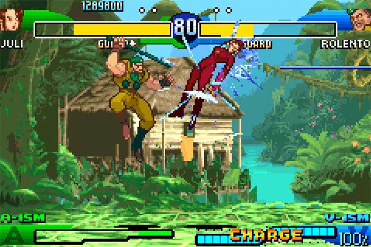 Super Street Fighter Alpha 3 GBA screenshot