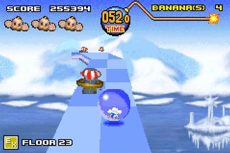 Super Monkey Ball Jr. GBA game screenshot
