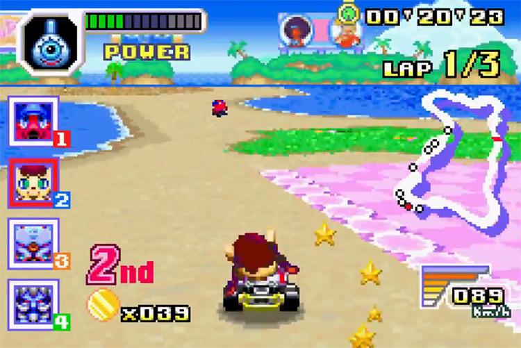Konami Krazy Racers GBA gameplay