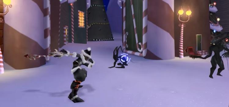 KH2 Halloween Town battle pose screenshot