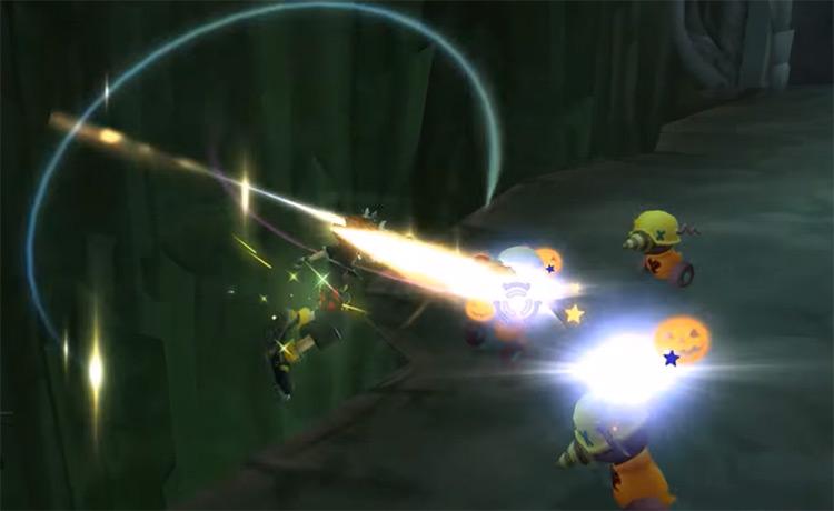 Second Chance battle screenshot in KH2