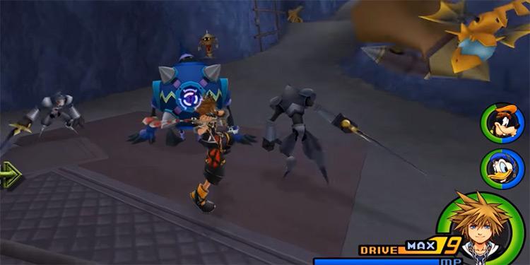 Combo Master battle screenshot in KH2