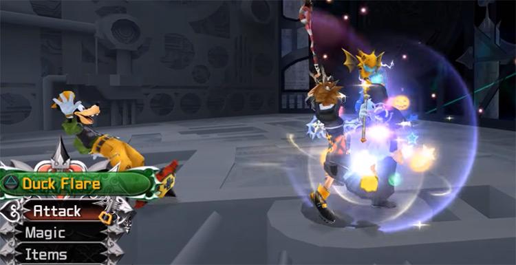 Slapshot attack ability in KH2