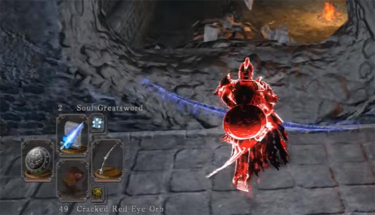 Sorcerer's Twinblade weapon screenshot from Dark Souls 2