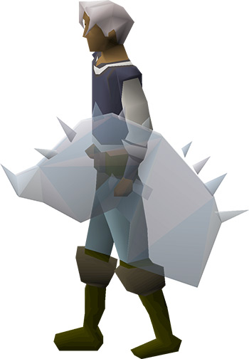 Crystal Shield equipped / OSRS render
