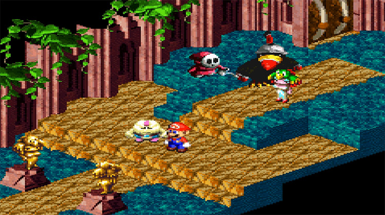 Super Mario RPG gameplay on SNES