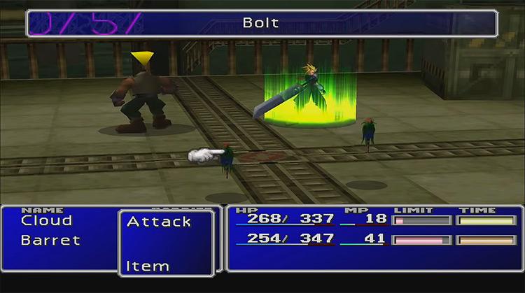 Final Fantasy VII original PSX screenshot