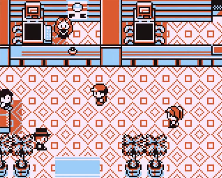 Pokémon Yellow Pokecenter gameplay on Game Boy