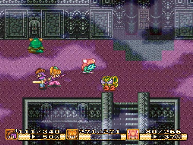 Secret of Mana gameplay SNES