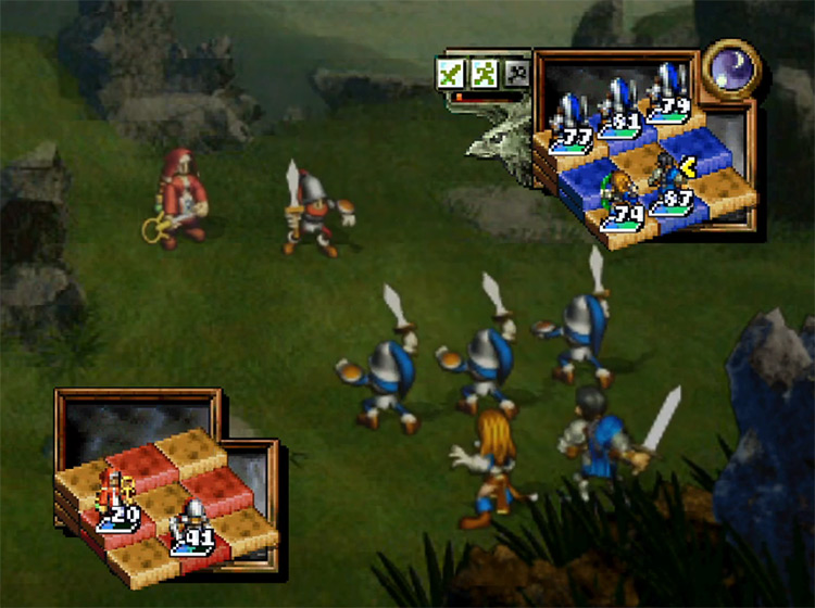 Ogre Battle 64: Person of Lordly Caliber video game screen